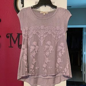 Purple short sleeve top